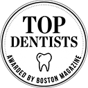 Top dentists award boston magazine logo