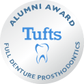Tufts alumni award logo for dentures