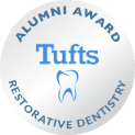 Tufts alumni award logo for restorative dentistry