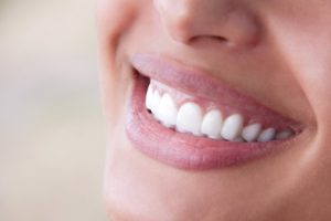 Closeup of healthy smile thanks to Braintree dentist