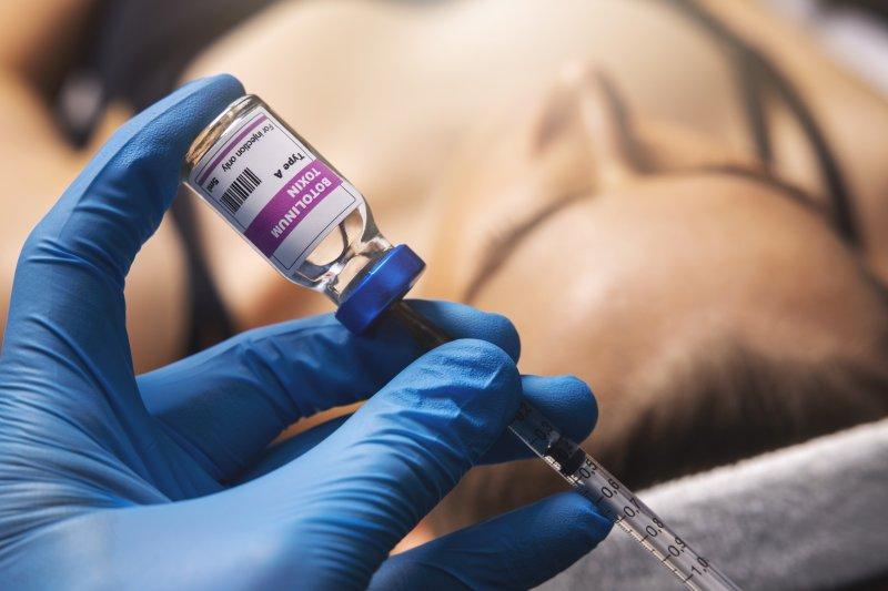 Dentist preparing for BOTOX injection